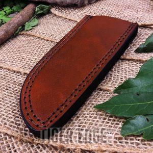 Fixed-Blade Knife Belt Sheath Brown Leather 6.75