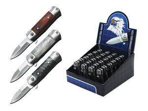 Mini Stiletto Spring-Assist Folding Pocket Knife Set | 24 Piece - 1.75