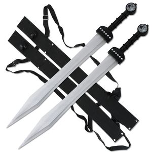 FANTASY SWORD Set of 2 Roman Gladiator Gladius Twin Fixed Blade Medieval SW-1271