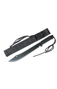 Machete | Fixed-Blade Full Tang Black Ninja Blade 20