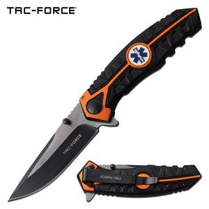 Spring-Assist Folding Knife Tac-Force Paramedic Black 3.5