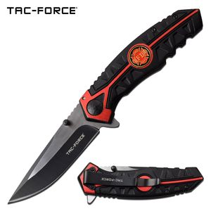 Spring-Assist Folding Knife Tac-Force Firefighter Black 3.5