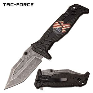 Spring-Assist Folding Knife | Tac Force Black Skull Punisher Tactical TF-1025BK