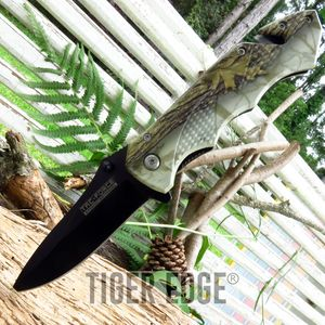 Tac-Force Camouflage Handle Spring Assisted Hunting Rescue Folding Knife