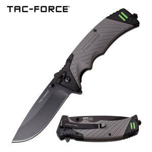 Spring-Assist Folding Knife | Tac-Force Gray Survival - Fire Starter, Whistle
