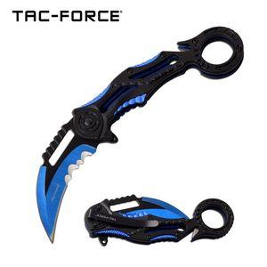 Spring-Assist Folding Knife | Black Blue 3