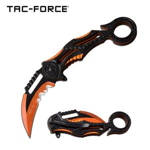 Spring-Assist Folding Knife | Black Orange 3