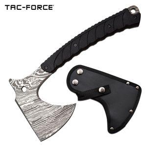 Hand Ax | Tac-Force Tactical Axe Hatchet Tomahawk Acid Etched Full Tang + Sheath