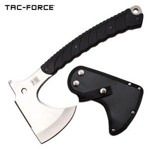 Hand Ax | Tac-Force Tactical Axe Hatchet Tomahawk Silver Full Tang + Sheath