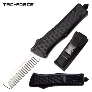 Out The Front Automatic | Black Steel Beard Comb Otf Men'S Dad'S Gift Tf-Cb002
