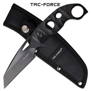 Tactical Knife | Tac-Force Black Wharncliffe Blade Full Tang Karambit + Sheath