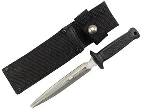 Fixed-Blade Knife Dagger Boot Knife Double Point Full Tang + Sheath 7