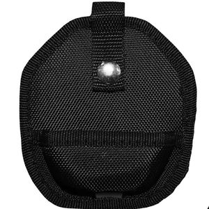 Handcuff Carrying Case | Black Nylon Sheath For Cuffs Snap Button Vhp-100-Bk