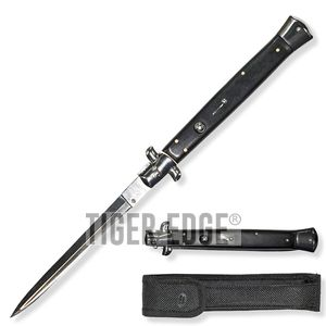 Giant Switchblade Automatic Knife Black Wood- Wns-It-A1Bk