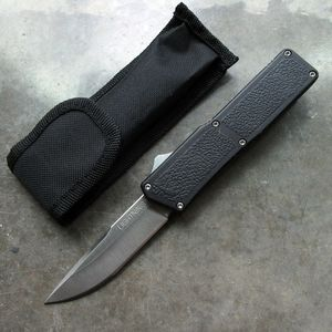 Out-the-Front Automatic Knife Lightning OTF Silver 3.25