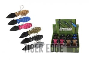 Keychain Knife | 12 Piece Mini Grenade Folding Pocket Knife Pop Retail Display