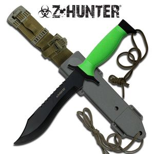 Z-Hunter Zombie Fixed Blade Knife W/ Hard Plastic Sheath Dead Walking