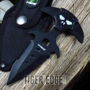 Z- Hunter Black Demon Head Double Edge Serrated Push/Punch Dagger