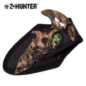 Z-Hunter Zombie Camo Dark Tan Push Dagger w/ Sturdy Nylon Sheath