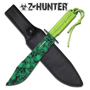 Z-Hunter Classic Outdoor Hunting Knife Green Zombie Camo Dead Walking