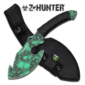 Z-Hunter Green Nightmare Zombie Skull Axe Hunting Blade Sheath Dead Walking