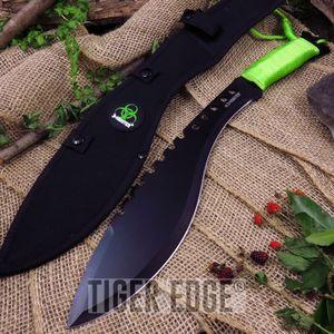 Z-Hunter Walking Dead Zombie Greeb Decapitator Kukri Machete Knife w/ Sheath