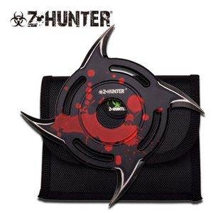 Z-Hunter Single Red Cyclone Throwing Star Zombie Blood Splatter Knife Gift
