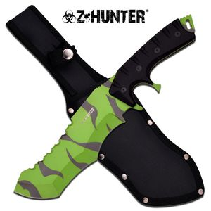 Fixed Blade Knife Z-Hunter Green Black Zombie Hunting Tactical Survival Zb-112